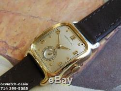 Vintage 1949 HAMILTON CARLTON, Stunning SIVER Dial, Serviced, One Year warranty