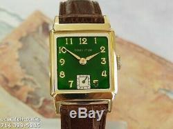 Vintage 1949 HAMILTON Cedric, Stunning Green Dial, Serviced, One Year warranty