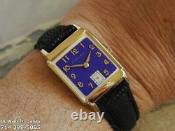 Vintage 1949 HAMILTON Cedric, Stunning Purple Dial, Serviced, One Year warranty