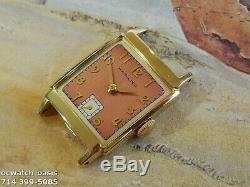 Vintage 1949 HAMILTON Cedric, Stunning Salmon Dial, Serviced, One Year warranty