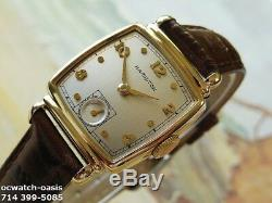 Vintage 1949 HAMILTON NORMAN, Stunning Silver Dial, Serviced, One Year warranty