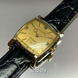 Vintage 1950s Men's Wittnauer Swiss Made Serviced With One Year Warranty