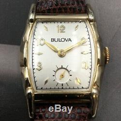 Vintage 1954 Men's Bulova, 15 Jewels, Caliber 10BT, Swiss Made One Year Warranty