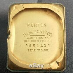 Vintage 1957 Hamilton Morton, USA Made Ca 753, 19J Serviced One Year Warranty