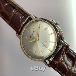 Vintage 1967 Men's Bulova Wave 2 Tone Dial Serviced With One Year Warranty