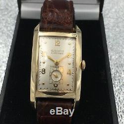 Vintage Gruen Curvex, Swiss Made, 17 Jewels, Serviced, One Year Warranty