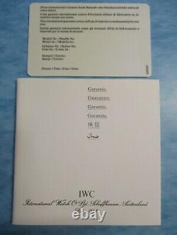 Vintage IWC Watch Open New-Old-Stock One Year International Guarantee Card +Book