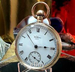 Waltham Traveler Vintage service pocket watch One Year Warranty 14 k Gold Plate